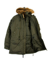 ALPHA INDUSTRIES EXPLORER W/O PATCHES JACKET GREEN