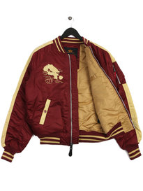 Alpha Industries Japan Dragon Bomber Burgundy