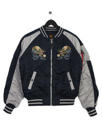 Alpha Industries Japan Dragon Bomber Blue