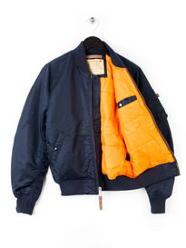 ALPHA INDUSTRIES MA1 FLIGHT BOMBER JACKET NAVY