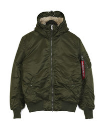 Alpha Industries MA-1 Hooded Jacket Olive Green