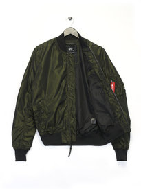 Alpha Industries MA 1 LW Iridium Bomber Jacket Green