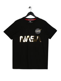Alpha Industries Nasa Reflective T-Shirt Black