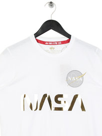 Alpha Industries Nasa Reflective T-Shirt White