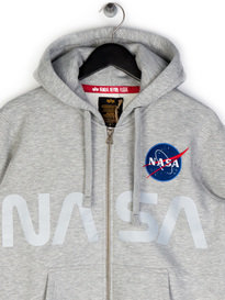 Alpha Industries NASA Zip Up Hoody Grey