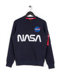 Alpha Industries NASA Reflective Sweat Top Blue