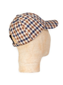 Aquascutum Abbott Club Check Cap Brown