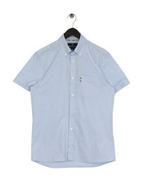 Aquascutum Casper Poplin Short Sleeve Shirt Blue