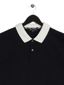 Aquascutum Collar Polo Shirt Navy
