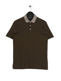 Aquascutum Coniston CC Collar Polo Green