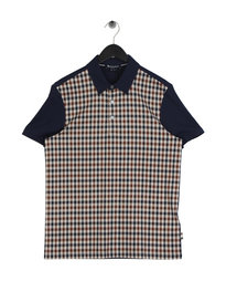 Aquascutum Dillon Check Polo Shirt Brown
