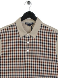 Aquascutum Dillon Club Check Polo Beige