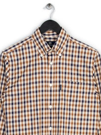Aquascutum Emsworth Long Sleeve Cc Shirt Brown