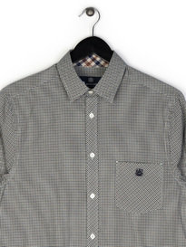 Aquascutum Heathcliffe Check Shirt Brown