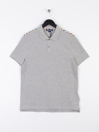Aquascutum Hill CC Pique Short Sleeve Polo Shirt Grey