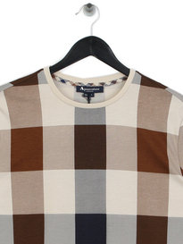 Aquascutum Jed Large CC Long Sleeve T-Shirt Brown