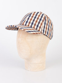 Aquascutum Mason Club Check Cap Brown
