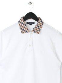 Aquascutum Nathan Cc Collar Long Sleeve Polo White