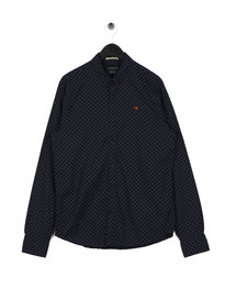 Scotch & Soda Regular Fit Oxford Shirt Navy