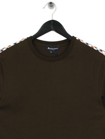 Aquascutum Southport CC Shoulder Long Sleeve T-Shirt Green