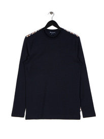 Aquascutum Southport CC Shoulder LS T-Shirt Navy