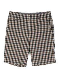 Aquascutum Winster Club Check Shorts Brown