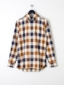 Aquascutum Harley 2 Cc Long Sleeve Shirt Brown