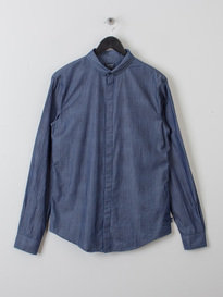 Armani Eagle Denim Shirt Blue