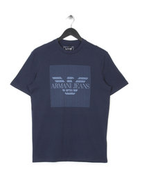 ARMANI JEANS ALL OVER PRINT T-SHIRT BLUE