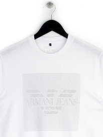 ARMANI JEANS ALL OVER PRINT T-SHIRT WHITE