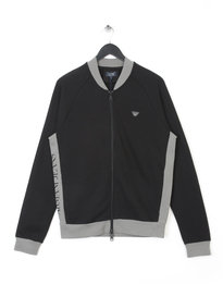 ARMANI JEANS BASEBALL ZIPPER BLACK GREY