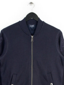 ARMANI JEANS BASEBALL ZIPPER NAVY