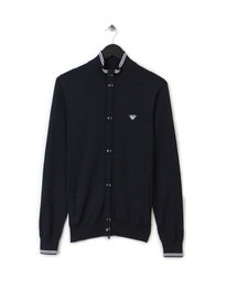 ARMANI JEANS BUTTON UP KNIT CARDIGAN NAVY