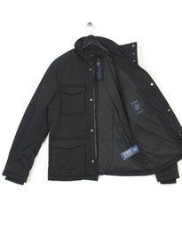 ARMANI JEANS CABAN COAT BLACK