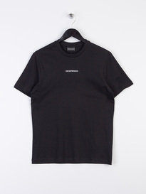 Armani Jeans Central Logo Short Sleeve T-Shirt Black