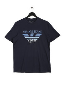 Armani Jeans City Print T-Shirt Navy