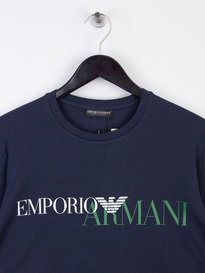 Armani Jeans Eagle Long Sleeve T-Shirt Navy
