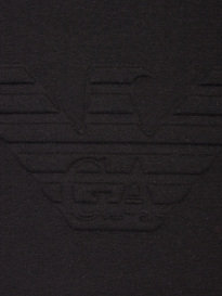 Armani Jeans Embossed Eagle Crew Sweat Black