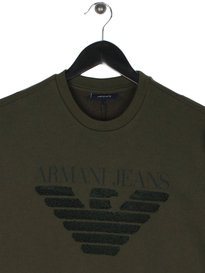 Armani Jeans Embroidered Eagle Sweat Green
