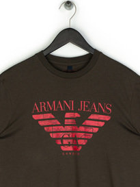 Armani Jeans Large Eagle T-Shirt Khaki