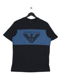 Armani Jeans Large Eagle T-Shirt Navy
