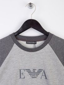Armani Jeans Logo Raglan Sweat Grey