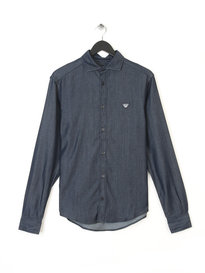 Armani Jeans Mens Denim Shirt Blue