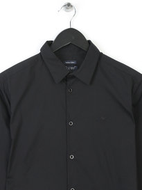 Armani Jeans Mens Small Logo Shirt Black