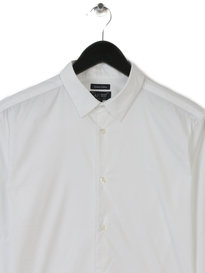 Armani Jeans Mens Small Logo Shirt White
