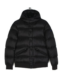 Armani Jeans Quilt Hooded Puffa Jacket Black