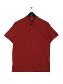 Armani Jeans Short Sleeve Polo Burgundy