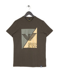 Armani Jeans Sliced Eagle T-Shirt Khaki