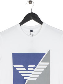 Armani Jeans Sliced Eagle T-Shirt White
