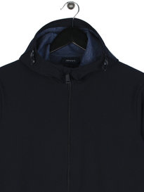 Armani Jeans Soft Shell Hooded Jacket Navy